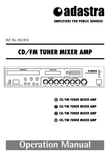 cd/fm tuner mixer amp