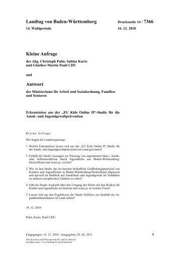 14 / 7366 - Günther-Martin Pauli MdL