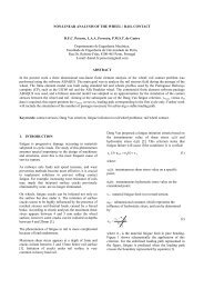 NON-LINEAR ANALYSIS OF THE WHEEL / RAIL CONTACT D.F.C. ...