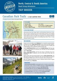 Canadian Park Trails 11 DAY CAMPING TouR - Adventure holidays