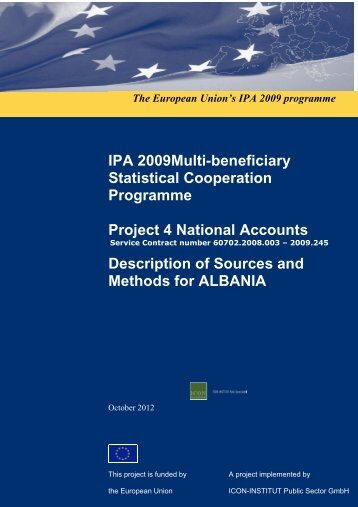 Description of methods and sources for Albania - INSTAT