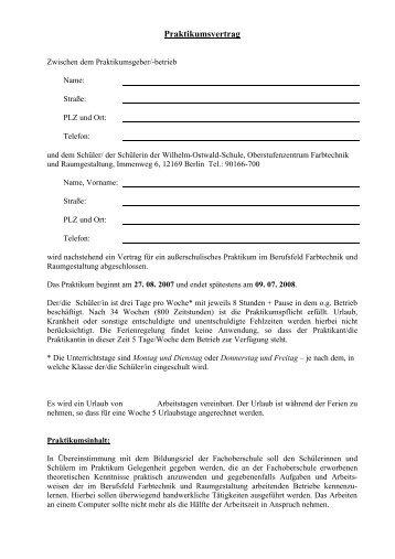Praktikumsvertrag neu - Arcor.de