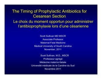 The Timing of Prophylactic Antibiotics for C S Cesarean Section