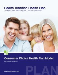 Consumer Choice Brochere - Health Tradition Health Plan