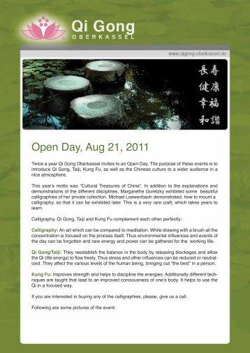 Open Day, Aug 21, 2011 - Qi Gong Oberkassel