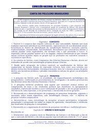 Carta do Folclore Brasileiro