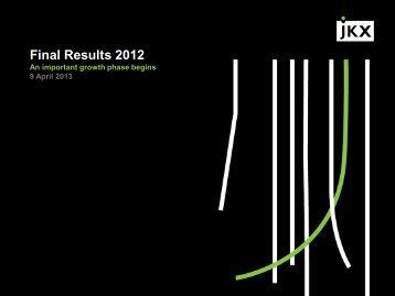 Preliminary Results Presentation 2013 - JKX