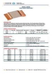 bws03, bws05 chip shunt resistors - RARA Electronics Corporation