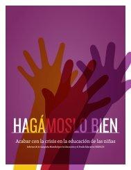 Acabar con la crisis en la educación de las niñas - Global Campaign ...