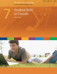 Chapter 7: Student Debt in Canada - Carleton University Library