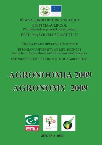 Agronoomia 2009 - Eesti põllu- ja maamajanduse nõuandeteenistus