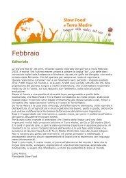 Febbraio - Slow Food