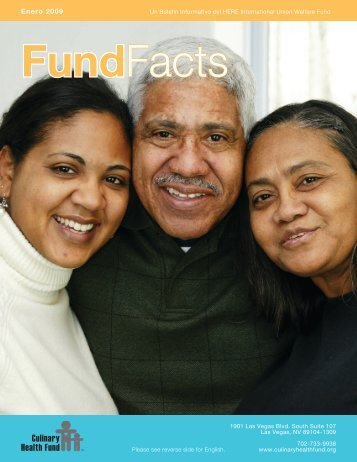 Enero 2009 - the Culinary Health Fund