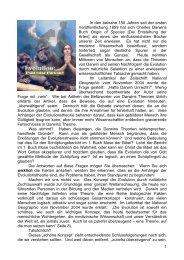 Evolution: Fakt oder Fiktion? - Welt von Morgen- Home Page