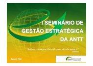 1º Seminário Anual de Planejamento Estratégico - GesANTT