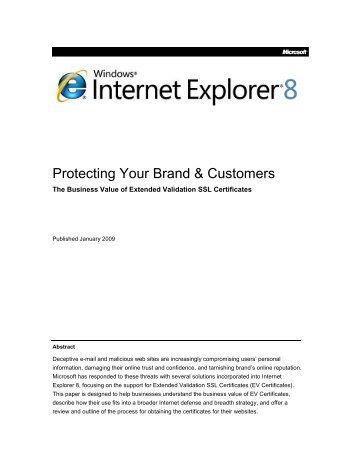 Protecting Your Brand & Customers - Online Trust Alliance