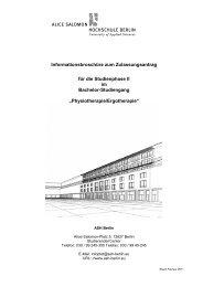 Studium an der ASH - Alice Salomon Hochschule Berlin