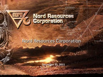 Corporate Presentation - Nord Resources Corporation