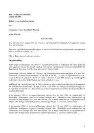 1 Den 16. maj 2011 blev der i sag nr. 48/2010 ... - Revisornævnet