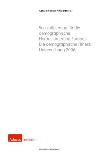 Die demographische Fitness Untersuchung 2006 - bei dbc-consult