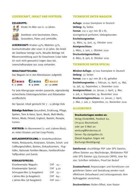leserschaft, inhalt und Vertrieb: technische daten magazin ...