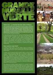 Notre rêve : La Grande Muraille Verte d'Afrique ... - Climate Centre
