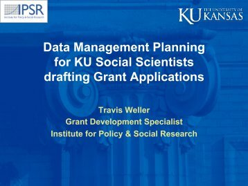 Information on Drafting Data Management Plans - Institute for Policy ...