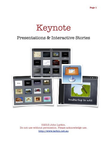 iPad ~ Keynote Guide - John Larkin