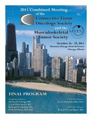 Annual Meeting - Connective Tissue Oncology Society