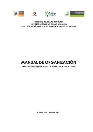 MANUAL DE ORGANIZACIÓN - Gobierno del Estado de Colima