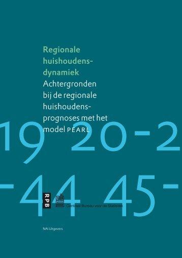 Rapport: Regionale huishoudensdynamiek - RIVM