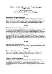 Weitere Termine, Themen und Veranstaltungen ... - Oberberg-Aktuell