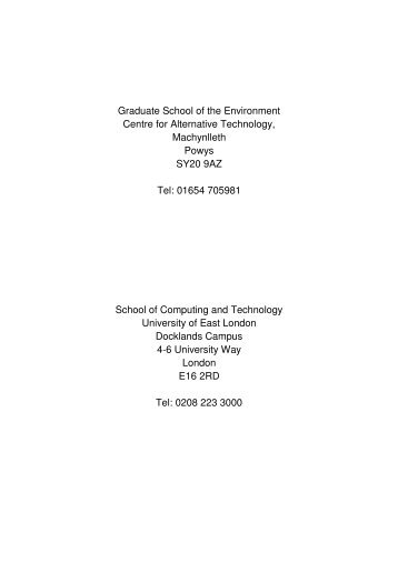 Link to thesis (1.1 mb) - the Graduate School of the Environment