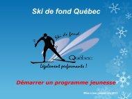 Démarrer un programme jeunesse - Ski de fond Québec