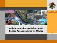 Aplicaciones FV en el sector agropecuario en México