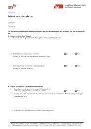 Arztbericht für Erwachsene (Beiblatt) - IV-Stelle des Kantons Solothurn