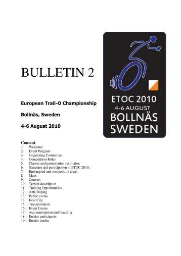 Bulletin 2.pdf - the IOF / Top - International Orienteering Federation