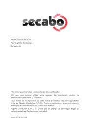 NOTICE D'UTILISATION Pour le plotter de découpe Secabo mini ...