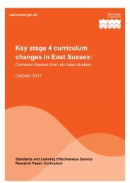 Key stage 4 curriculum changes in East Sussex: - Sussex Council of ...