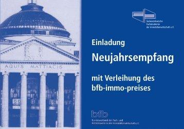 Neujahrsempfang - bfb - Bundesverband der Fach