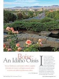 An Idaho Oasis - Boise Convention & Visitors Bureau