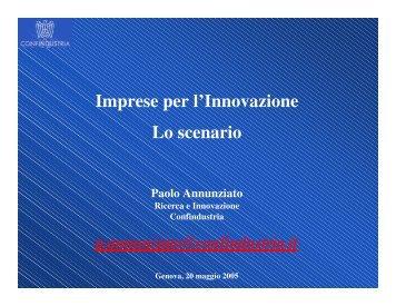 DOCUMENTO L'Innovazione a 360° - Lo scenario - Confindustria IxI