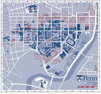 University of Pennsylvania Campus Map