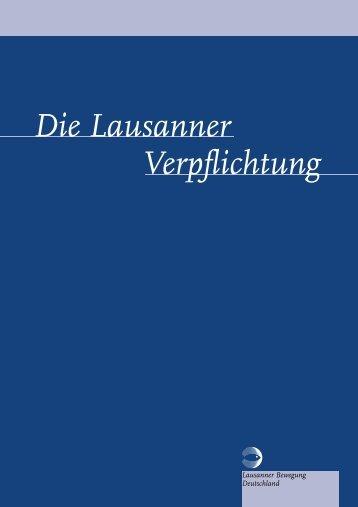 Die Lausanner Verpflichtung - Lausanner Bewegung