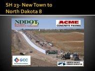SH 23 - New Town to SH8 - north dakota ready mix & concrete ...