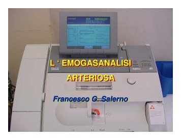 Emogasanalisi - Medicina e chirurgia