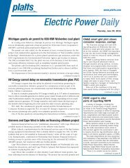 Electric Power Daily - Silver Spring Networks