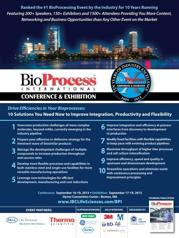 Drive Efficiencies in Your Bioprocesses: 10 Solutions You Need ...