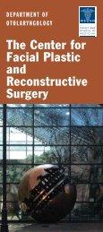 Facial Plastic Surgery Brochure - Mount Sinai Hospital