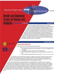 Benefits and Employment Services for Veterans with Disabilities